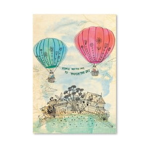 Plakat Touch The Sky Blue And Read, 30x42 cm