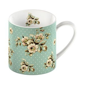 Zielony kubek porcelanowy Creative Tops Cottage Flower, 330ml