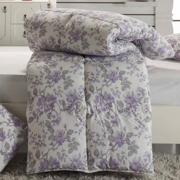 Narzuta pikowana na łóżko dwuosobowe Avenil Lila, 195x215 cm