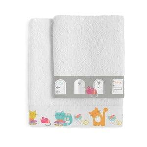 Zestaw 2 ręczników Cat & Mouse, 500x100 i 70x140 cm