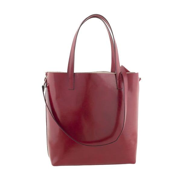Skórzana torebka Italian Simplicity, czerwona