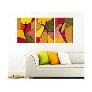 Trzyczęściowy obraz Geometry Art, 45x90 cm