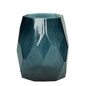Nebieski wazon ze szkła HF Living Diamond