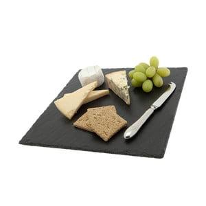Deska do serów Square, z łupka kamiennego, 30x30 cm