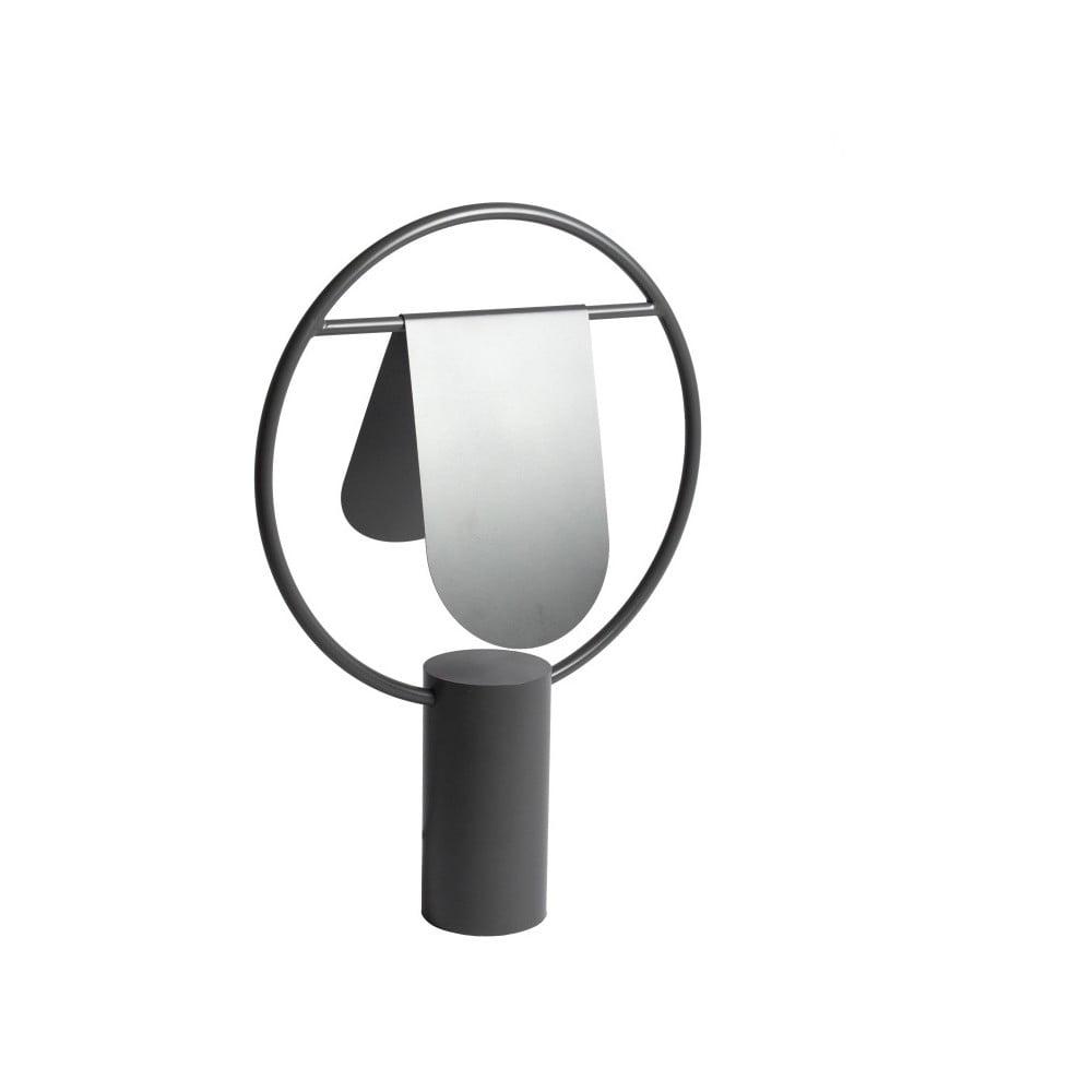 Lampa stołowa z metalu w szarej barwie HARTÔ Anae