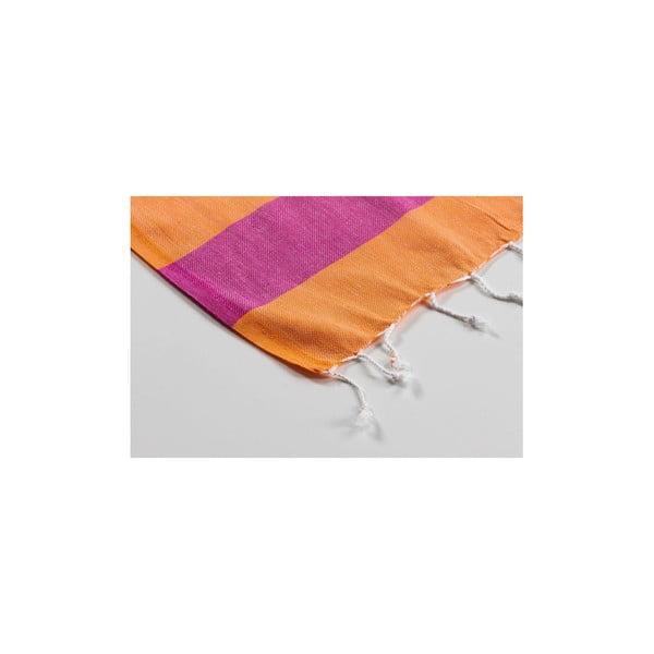 Ręcznik hamam Myra Orange Fuchsia, 100x180 cm