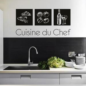 Naklejka ścienna Cuisine du Chef, 90x60 cm