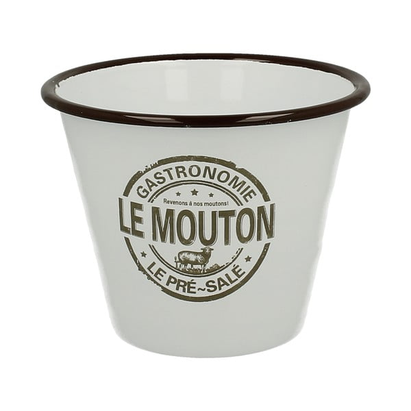 Emaliowana doniczka Le Mouton