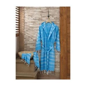 Zestaw szlafrok i ręcznik Sultan Blue, rozmiar L/XL
