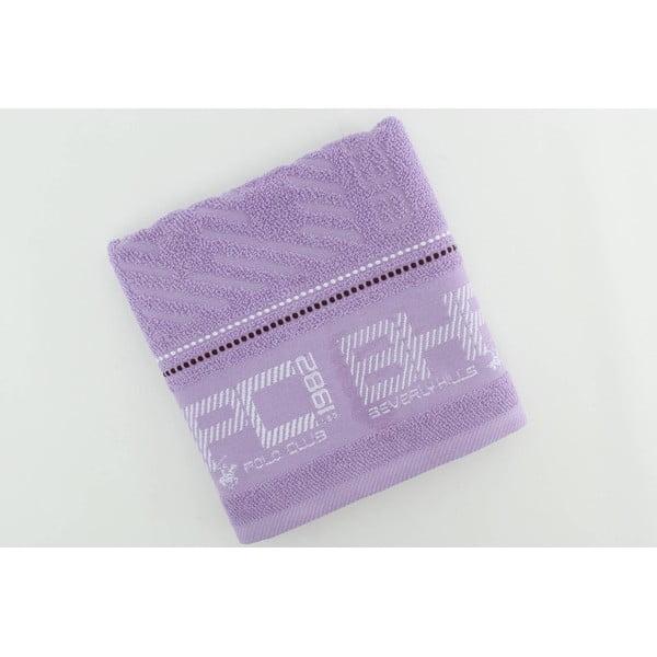 Ręcznik bawełniany BHPC 50x100 cm, pastelowy fioletowy
