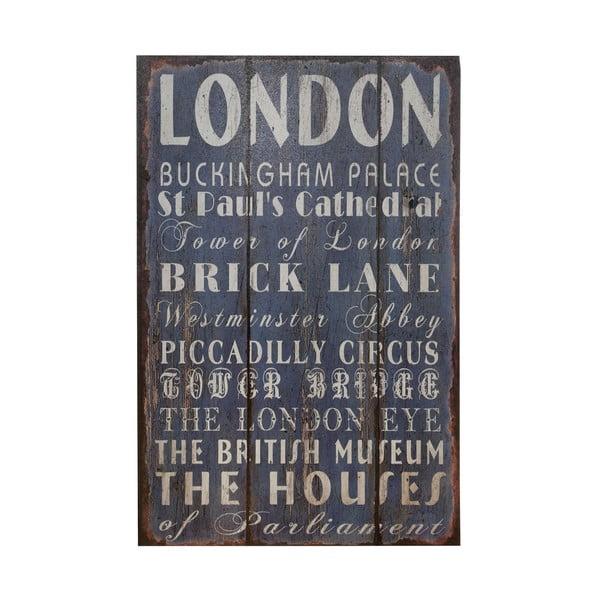 Drewniany obraz London, 25x38 cm