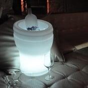 Nastrojowa lampa ogrodowa i cooler do wina Illuseo