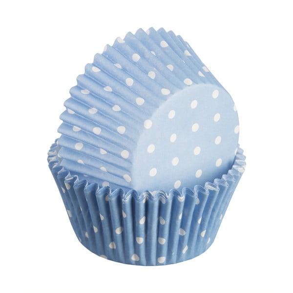 Zestaw 75 foremek do ciastek Polka, jasnoniebieskie
