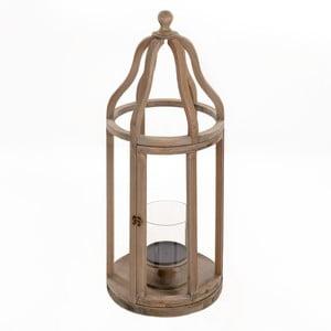 Lampion drewniany Beige, 32x83 cm