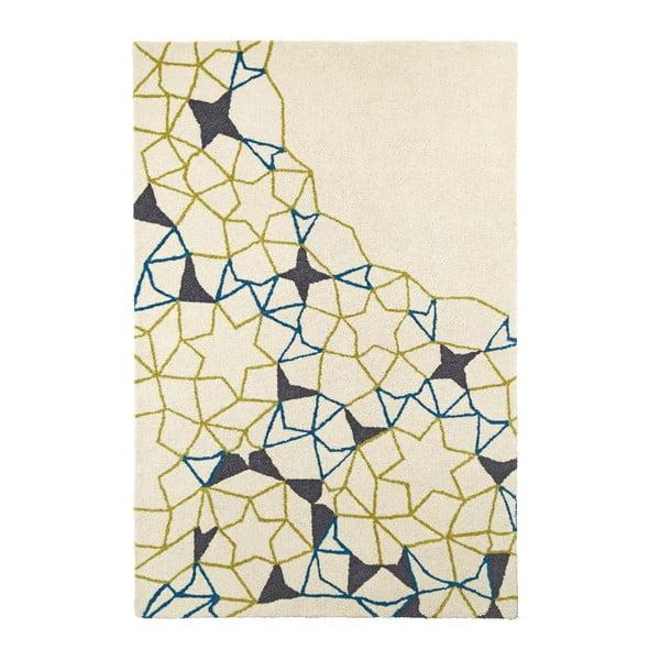 Dywan wełniany Spectrum Ivory Green Blue, 150x230 cm