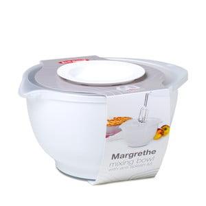 Biała miska do ubijania z wieczkiem Rosti Mepal Margrethe,3l
