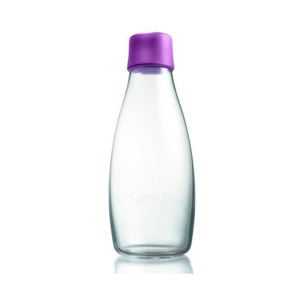 Fioletowa butelka ze szkła ReTap z dożywotnią gwarancją, 500 ml