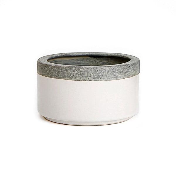 Ceramiczna osłona na doniczkę Jungle Krem, 7x12,5 cm