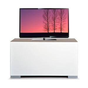 Stolik telewizyjny Decoflex Full, biały/dąb cordoba