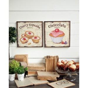 Dekoracja ścienna Cupcakes, 2 szt.