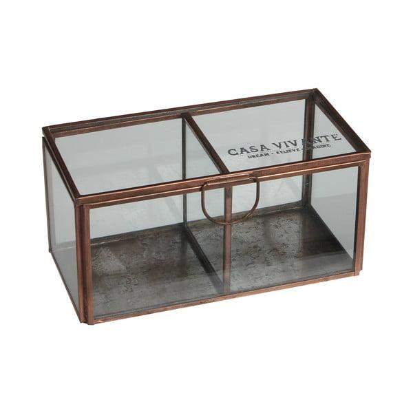 Szklane pudełko Grazia, 15x8 cm