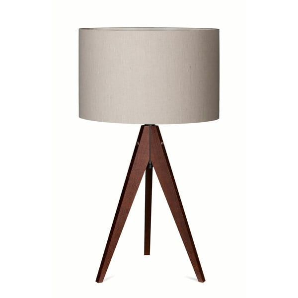 Lampa stołowa Artist Grey/Dark Brown