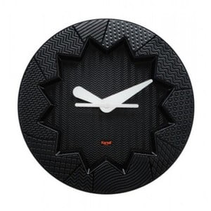 Czarny zegar Kartell Crystal Palace