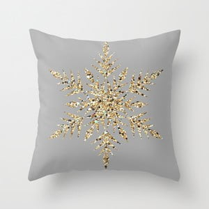 Poduszka Snowflake Grey II, 45x45 cm