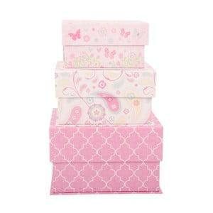 Zestaw 3 pudełek Pink World