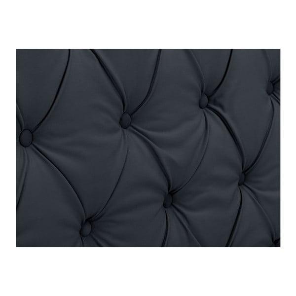 Antracytowy zagłówek łóżka Windsor & Co Sofas Queen, 176x120 cm