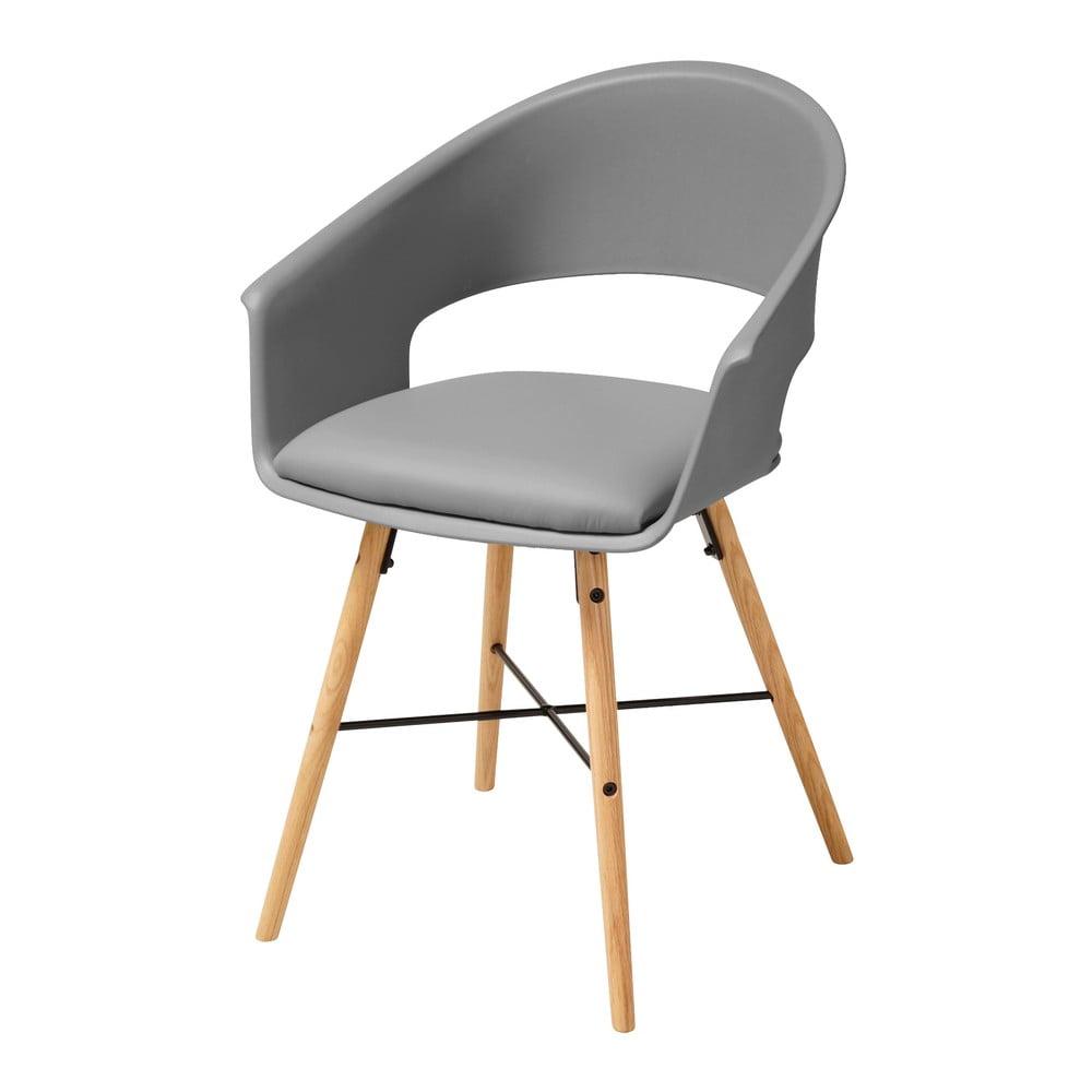Szare krzesło z konstrukcją z drewna bukowego Actona Ivar