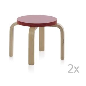 Zestaw 2 stołków dla dzieci Geese Petit