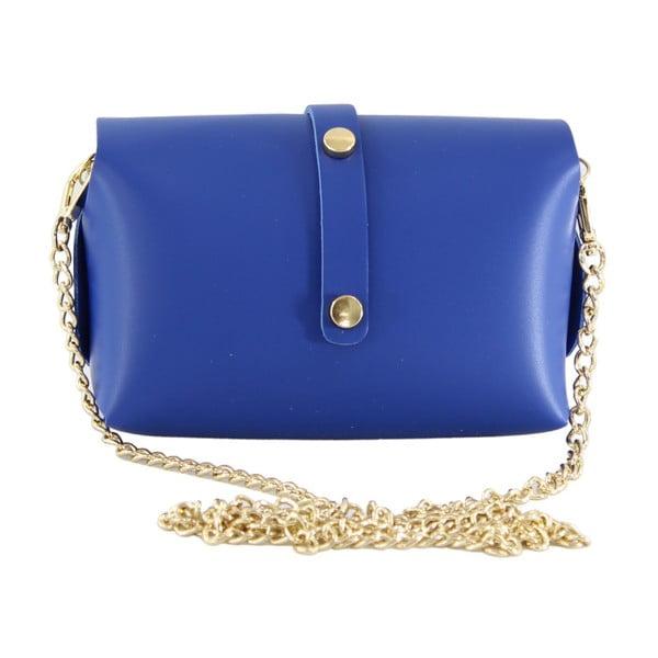 Niebieska skórzana torebka Loira