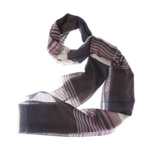 Szalik Bold Stripe Dark, 180x70 cm
