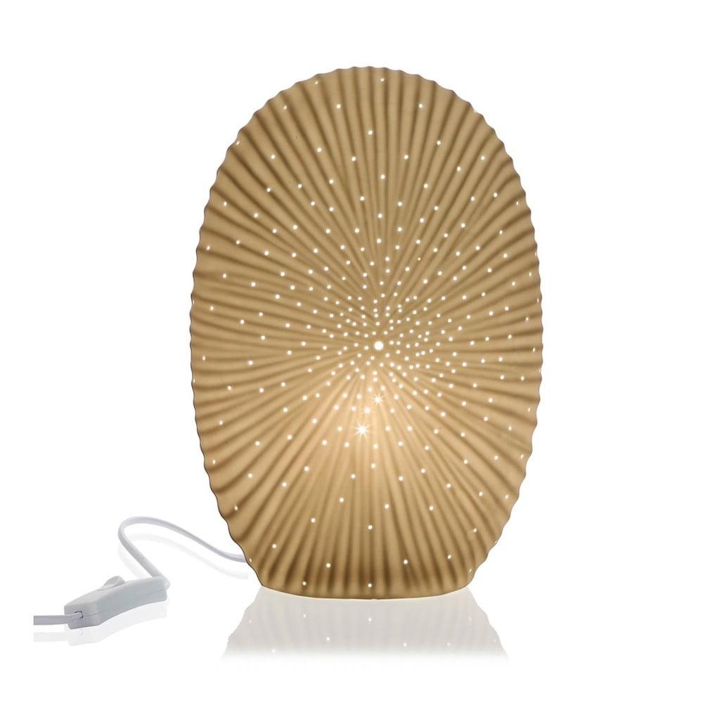 Porcelanowa lampa stołowa w kształcie kamienia Versa
