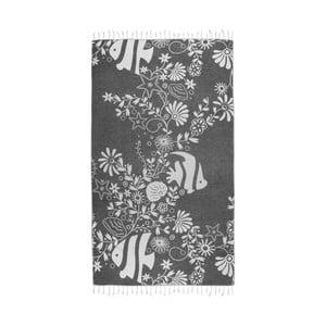 Czarny ręcznik hammam Kate Louise Helene, 165x100 cm