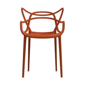 Pomarańczowe krzesło Kartell Masters