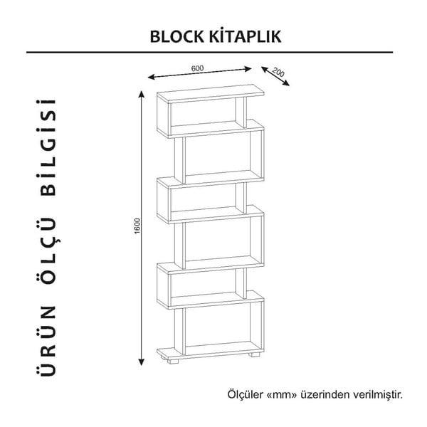 Biało-brązowy regał Blok