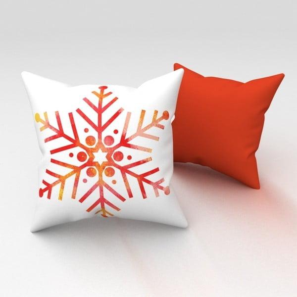 Pomarańczowa poduszka Orange Snowflake, 43x43 cm