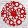 Zegar ścienny Red Bubble