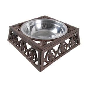 Stalowa miska dla psa z żeliwną podstawką Esschert Design, szer.24cm