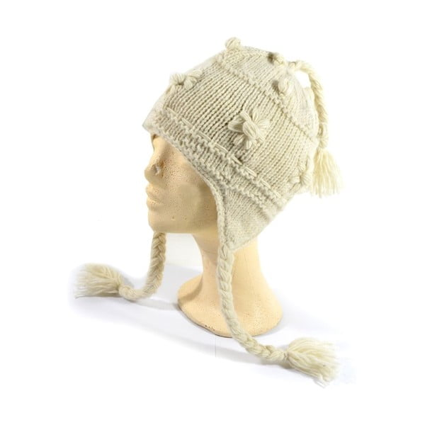 Wełniana czapka z uszami White Decor