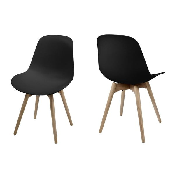 Komplet 2 krzeseł Scramble, czarne