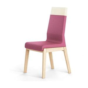 Różowe krzesło dębowe Absynth Kyla Two