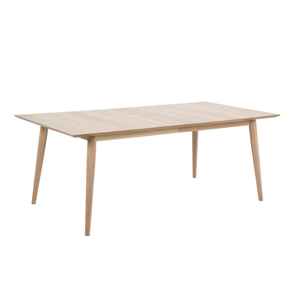 Rozkładany stół z konstrukcją z drewna dębowego Actona Century, 200x100 cm
