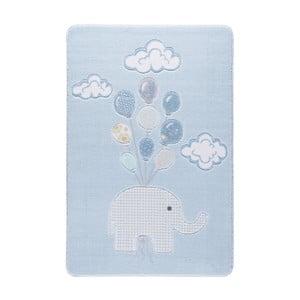 Jasnoniebieski dywan dziecięcy Confetti Sweet Elephant, 133x190 cm