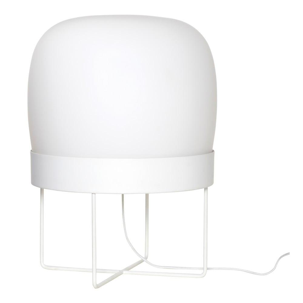 Biała lampa stojąca Hübsch Karetto