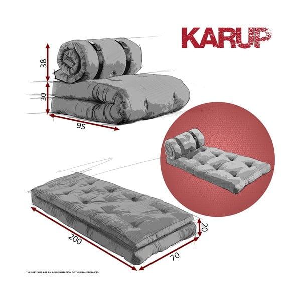 Fotel rozkładany Karup Buckle Up Orange