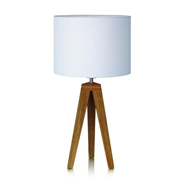 Biała lampa stołowa Markslöjd Kullen, ⌀ 28 cm
