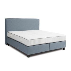 Niebieskie łóżko kontynentalne Revor Milano, 140x200cm